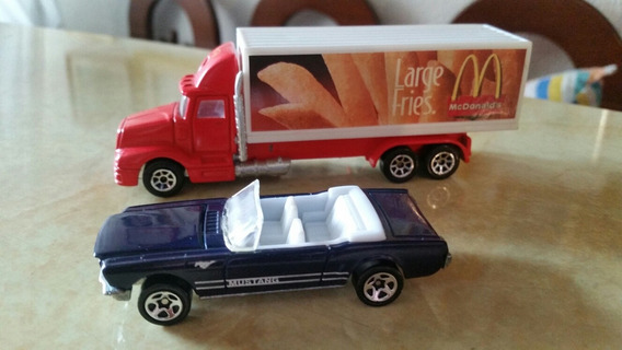 Gandola Hotweels Mcdonald Y Ford Mustang Escala 1/64