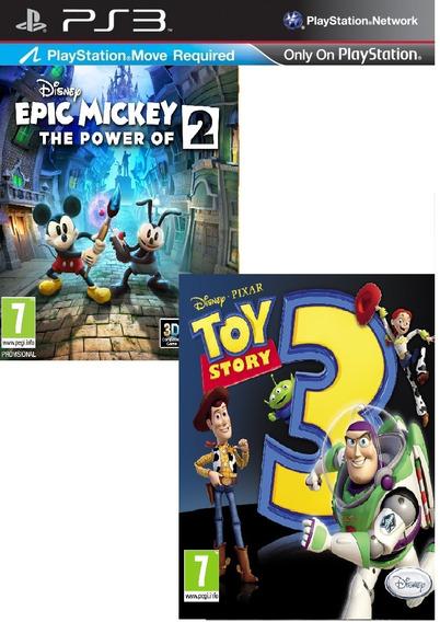 Disney Epick Mickey 2 + Toy Story 3 Ps3 Psn Envio Imediato
