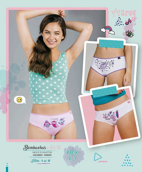 Pack X3 Culottes Teen Varios Colores. Marey