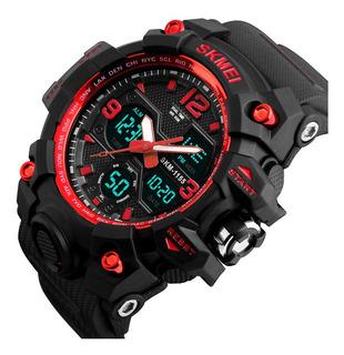 Reloj Deportivo Dual Skmei - Rojo Resistente Al Agua