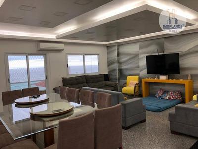 Cobertura Com 2 Dormitórios À Venda, 259 M² Por R$ 905.000 - Campo Da Aviação - Praia Grande/sp - Co0172