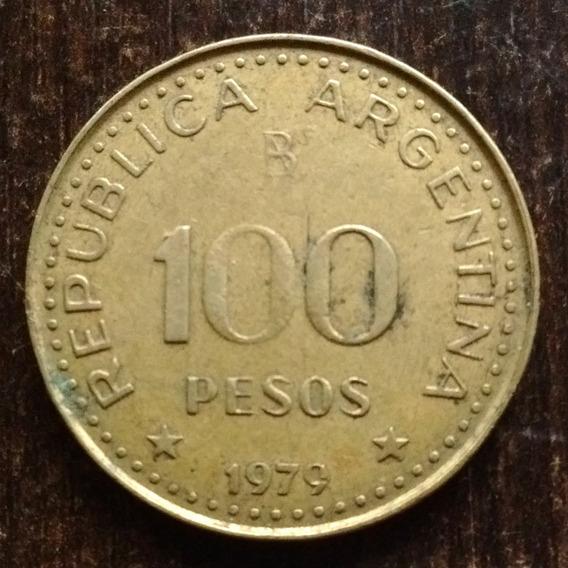 Moneda 100 Pesos Argentina 1979 Buena