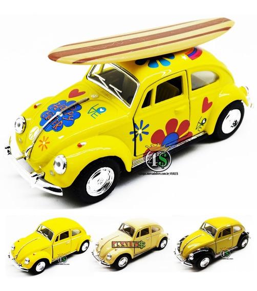 Fusca Miniatura Carro Escala 1:32 Cores Policia Surf Avulso