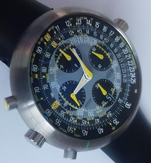 Ikepod Megapode Pilot Chronograph Mg01 Gmt By Marc Newson
