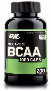Bcaa Optimum Nutrition Mega Size 200 Caps Importado Eua