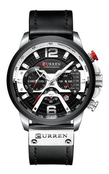 Relógio Curren Luxury Masculino De Couro
