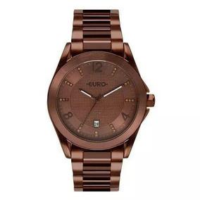 Relógio Feminino Euro Eu2315hp/4m 42mm Aço Marrom