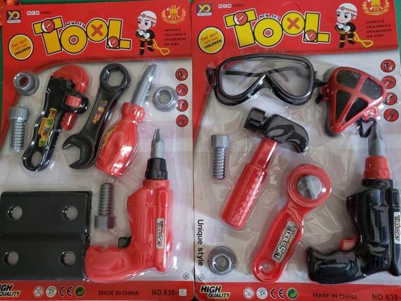 Kit 17 Peças Ferramentas Mecânico Brinquedo Bonecos- Coleção