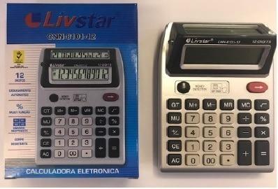 Calculadora Duplo Visor Com Detector De Nota Falsa