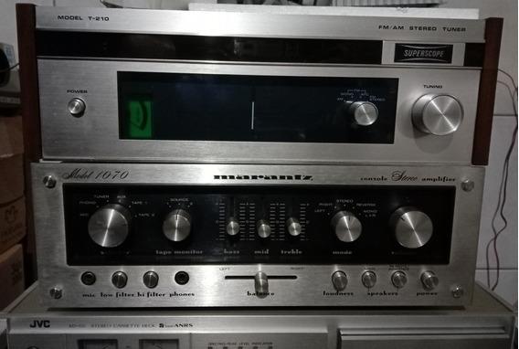 Amplificador Marantz Model 1070 + Tuner Superscope T-210