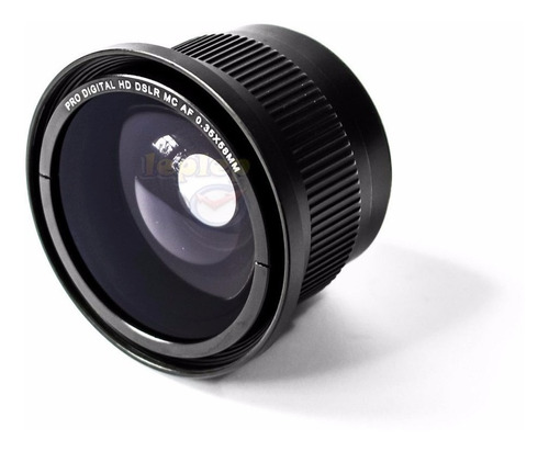 Fisheye Olho De Peixe 58mm Canon 70d 80d T7i T6i T5i T4i T3i