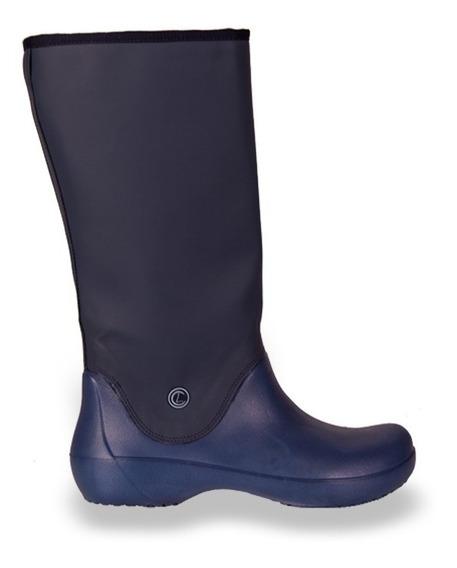 Botas De Lluvia Mujer Tipo Crocs Eva Livianas Azul