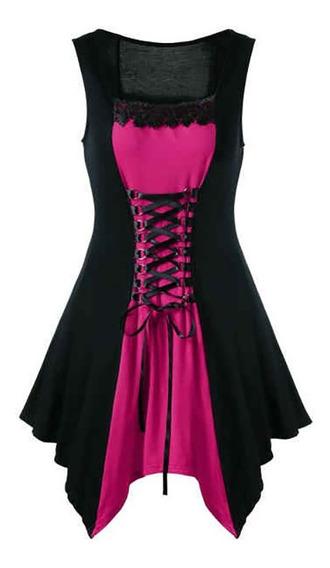 Vestido De Fiesta Gótico Con Cordones Y Talla Grande Gótico