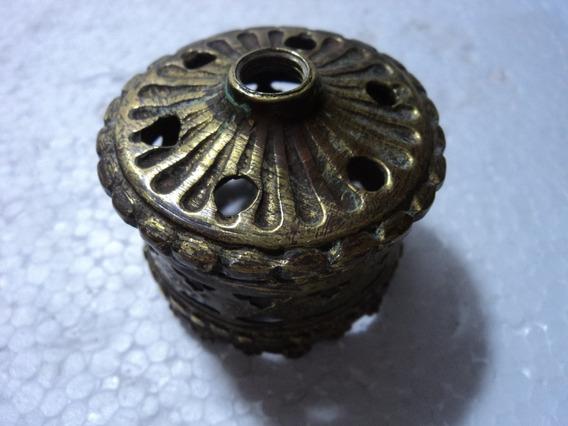 Bocal Em Bronze E Latão Para Iluminação Antiga (01)