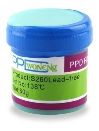 Pasta De Solda Bga Reballing Ppd S260 Lead Free 138 ºc 50g