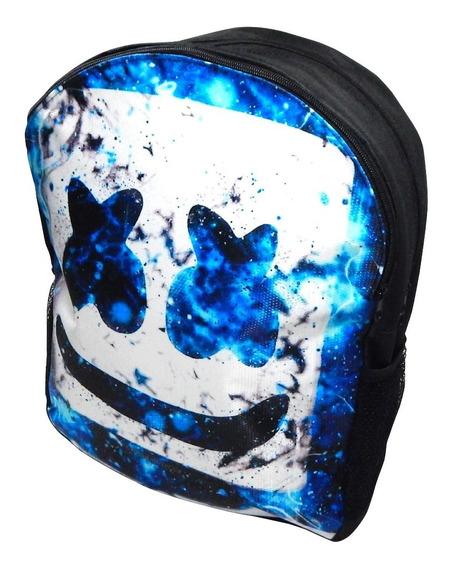 Dj Marshmello Blue Mochila Mascara Marshmallow Envio Gratis