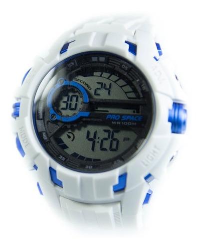Reloj Hombre Digital Prospace Nws Blanco Sumergible Deporte