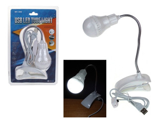 Luz Led Usb Velador Flexible Con Pinza Switch Para Encendido