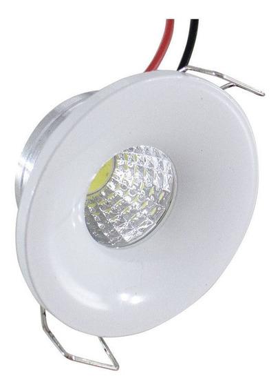 Kit 15 Lampada Mini Spot Cob 3w Led Embutir Redonda Gesso