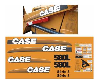 Kit Adesivo Retroescavadeira Case 580l Série 3 + Etiqueta Mk