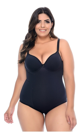 Body Modelador Plus Size Preto