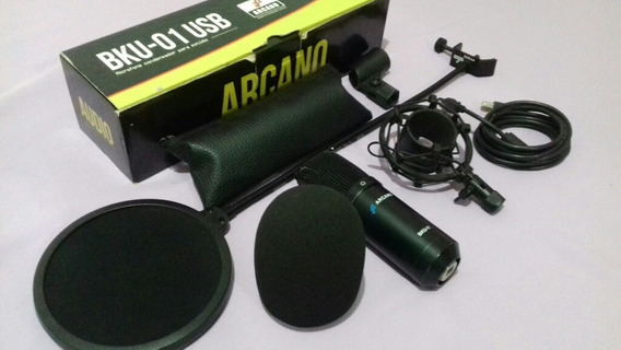 Microfone Condensador Arcano Black 01 Usb