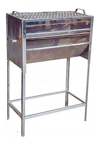 Imagem 1 de 1 de Churrasqueira Fechada Fabricada Em Aço Inox Com Grelha