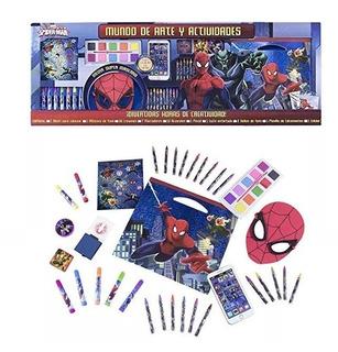 Set De Arte Spiderman Importado Con Variedad De Materiales