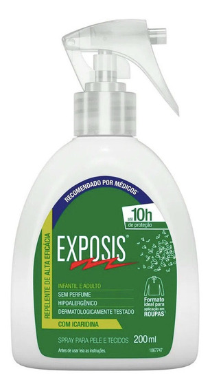 Exposis Repelente De Insetos Em Spray Original 200 Ml