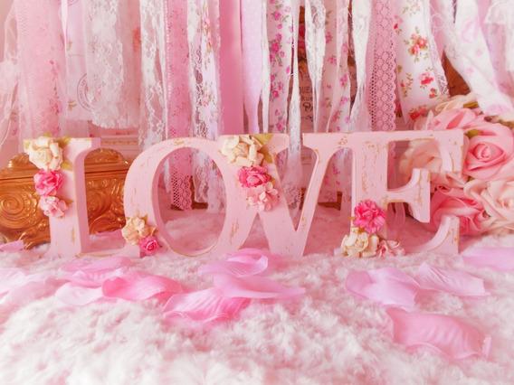 Palabras Letras Love Shabby Chic 11 Cm (precio X Letra)