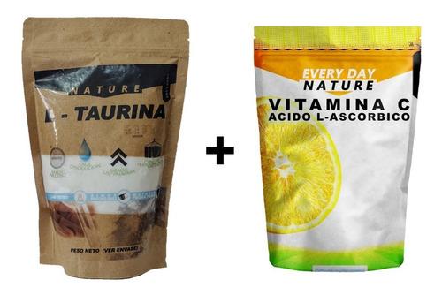 Imagen 1 de 8 de L- Taurina 500gr. + Vitamina C 500gr. - Calidad Premium