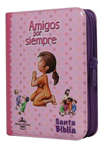 Biblia Niños Amigos Por Siempre Ros Cierre Reina Valera 1960