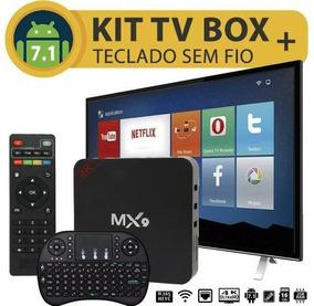 Smart Tv Box Mx9 4k 2gb Ram Original +teclado+ Frete Grátis