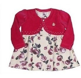 Vestido Bebê Paraíso Fusion Floral Com Bolero Plush Cód: 320