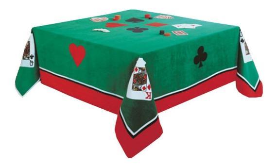 Toalha De Mesa Quadrada P/ Jogos Poker Truco Baralho Dohler