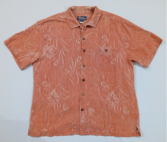 Camisa Hawaiana Playera Floreada Coral Americana - Xl - 162