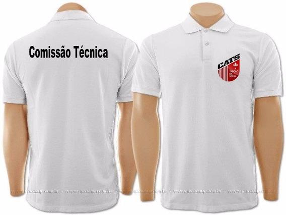 30 Camisa Polo Uniforme Bordado Personalizada Frente E Costa