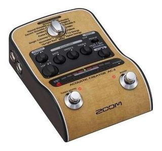 Pedalera De Guitarra Acústica Zoom Acoustic Creator Ac-2.