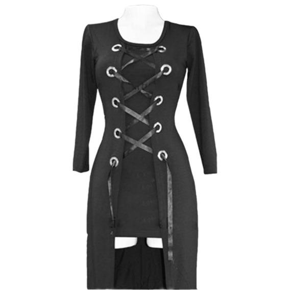 Vestido Corto Dama Mujer Sexy Importado Gala Gotico