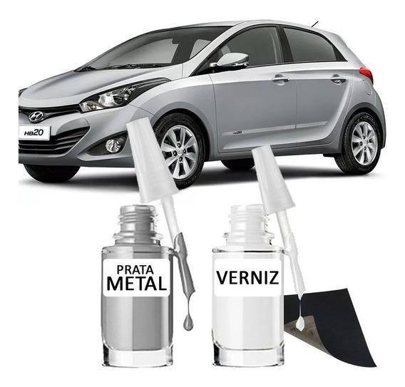 Tinta Tira Risco Automotiva Hyundai Prata Met Hb20 15ml