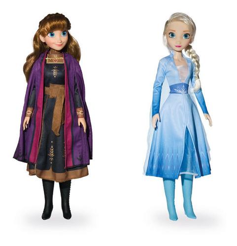 Kit Princesas Disney Anna E Elsa Frozen Mini My Size 55cm Ba
