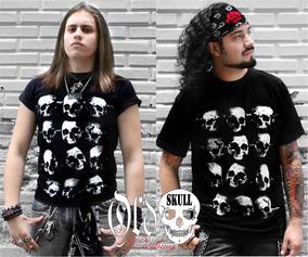 Playera Xxl Xxxl - Tzompantli Cráneos Calaveras Skulls