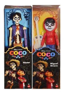 Coco Figuras 28 Cms Miguel Y Hector Articulados