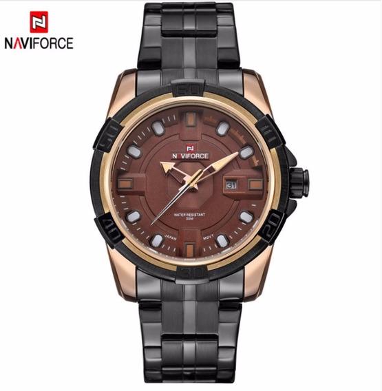 Relógio Masculino Dourado Luxuoso Original Ouro Presente Top