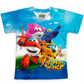 Camiseta Infantil Super Wings Estampa Digital