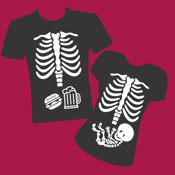 Playera Embarazo Esqueleto Pack!!!