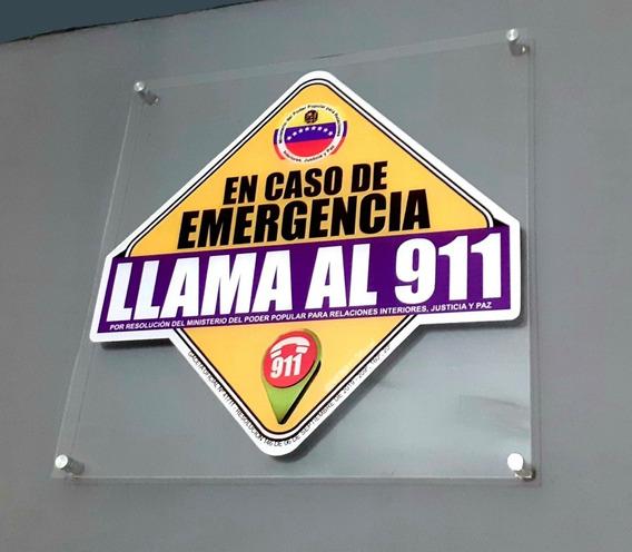 Cartel En Caso De Emergencia Llama Al 911