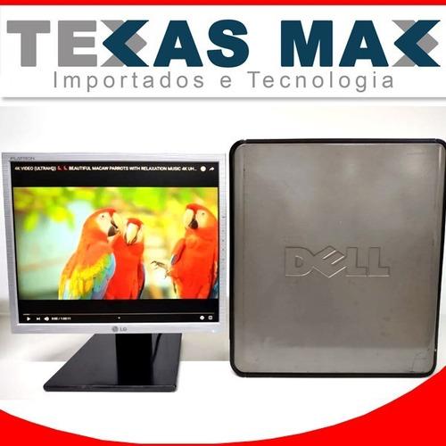 Imagem 1 de 5 de Computador Core 2 Duo Dell+ssd 120 +monitor 15+mouse+teclado