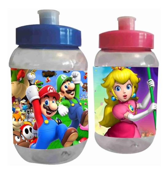 20 Vasos Cilindros Mario Bros Dulceros Personalizados