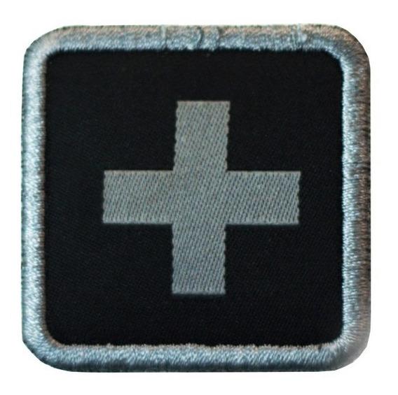 Patch Bordado Warfare Identificação Médico Militar Airsoft